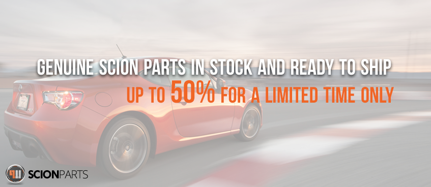 scion parts website banner